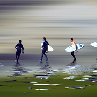 Buy canvas prints of  Lets go surf by Sharon Lisa Clarke