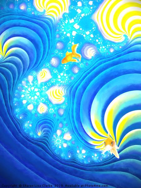Fish of Gold Framed Print by Sharon Lisa Clarke