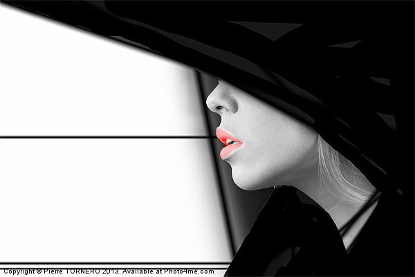 Lips Canvas print by Pierre TORNERO
