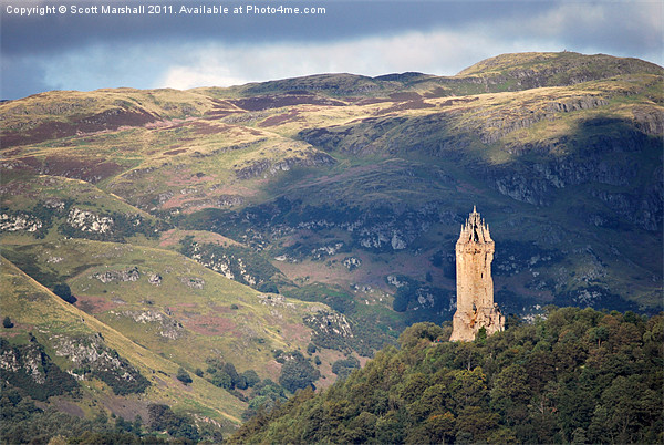 Wallace Monument - Stirling Canvas print by Scott Marshall