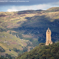Buy canvas prints of Wallace Monument - Stirling by Scott Marshall