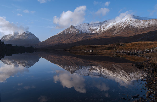 Becalmed - Torridon Canvas Print by Scott Marshall