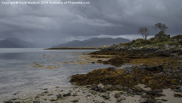 The Sleat Penisular Canvas Print by Scott Marshall