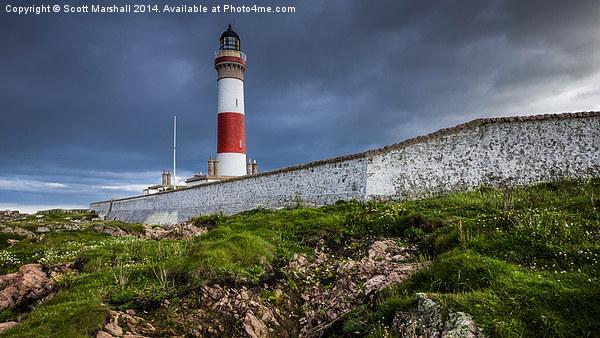 Buchan Ness Lighthouse Canvas Print by Scott Marshall