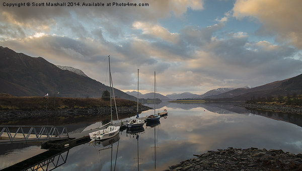 Loch Leven Anchorage Canvas Print by Scott Marshall