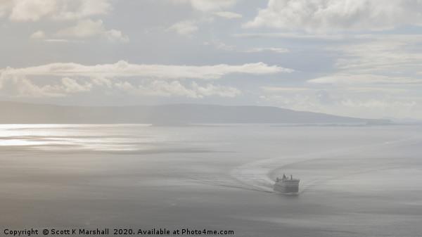 Hazy Arrival Uig Skye Framed Print by Scott K Marshall
