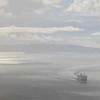 Buy canvas prints of Hazy Arrival Uig Skye by Scott K Marshall
