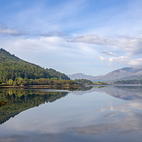 Buy canvas prints of Loch Leven tranquil autumn reflection by Scott K Marshall