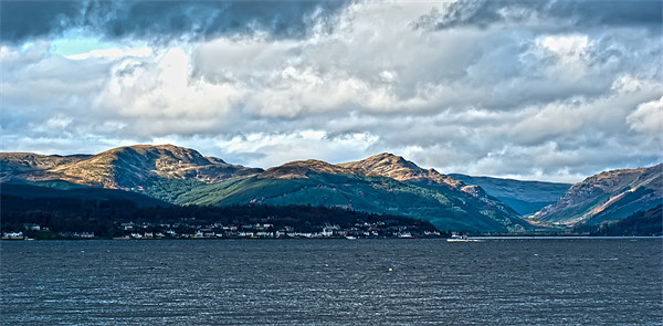 View Over Dunoon Canvas print by Grant Paterson