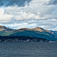 Buy canvas prints of View Over Dunoon by Grant Paterson