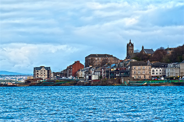 Gourock Town Canvas print by Grant Paterson