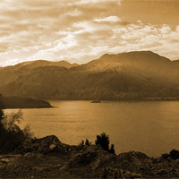 Buy canvas prints of Ullswater Sepia by Lee Dawson