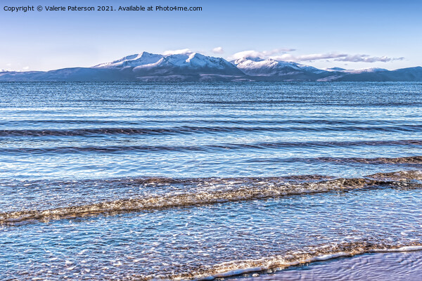 North Shore Ardrossan Canvas Print by Valerie Paterson