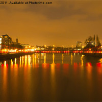 Buy canvas prints of Red & Gold Reflection by Valerie Paterson