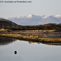 Buy canvas prints of Irvine Harbour To Arran Hills by Valerie Paterson