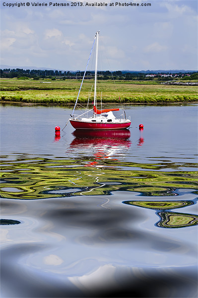 Solitary At Irvine Harbour Canvas print by Valerie Paterson