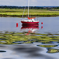 Buy canvas prints of Solitary At Irvine Harbour by Valerie Paterson