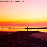Buy canvas prints of Irvine Sunset by Valerie Paterson