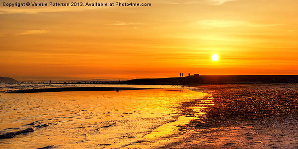 Irvine Beach Sundown Canvas print by Valerie Paterson