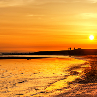 Buy canvas prints of Irvine Beach Sundown by Valerie Paterson