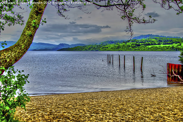 Loch Lomond View Canvas print by Valerie Paterson