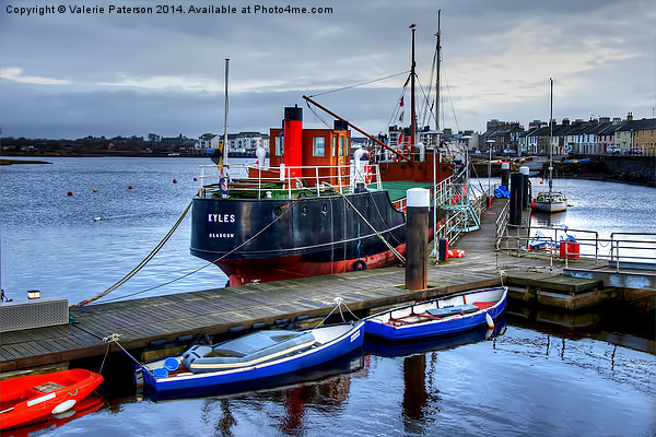 Boats on Irvine Harbour Canvas print by Valerie Paterson