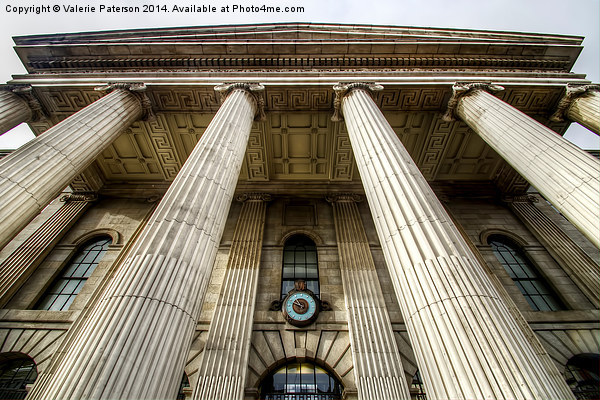 Pillars of Dublins Post Office Canvas Print by Valerie Paterson