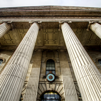 Buy canvas prints of Pillars of Dublins Post Office by Valerie Paterson