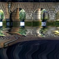 Buy canvas prints of Under Glasgow Bridge by Valerie Paterson