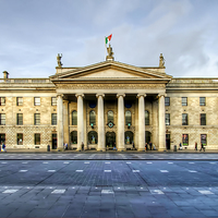 Buy canvas prints of Dublin Post Office by Valerie Paterson