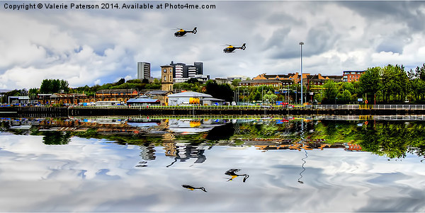 Glasgow Waterfront Canvas print by Valerie Paterson
