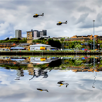 Buy canvas prints of Glasgow Waterfront by Valerie Paterson