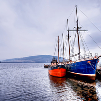 Buy canvas prints of Inveraray Harbour by Valerie Paterson