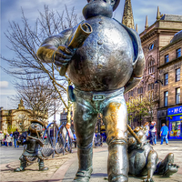 Buy canvas prints of Desperate Dan in Bronze by Valerie Paterson
