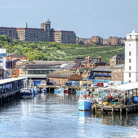 Buy canvas prints of North Shields Fish Quay by Valerie Paterson