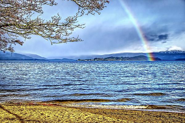 Loch Lomond Rainbow Canvas print by Valerie Paterson