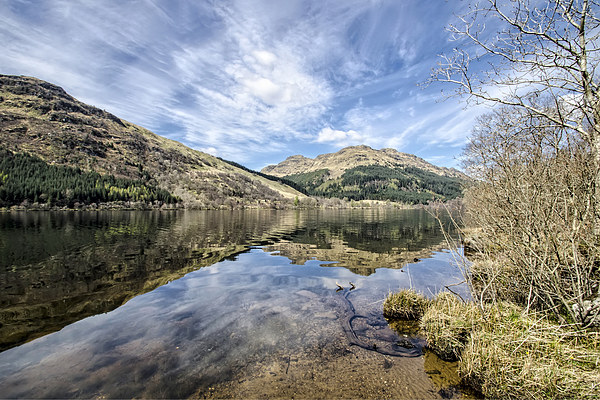 Loch Eck Reflection Canvas print by Valerie Paterson