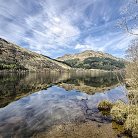 Buy canvas prints of Loch Eck Reflection by Valerie Paterson
