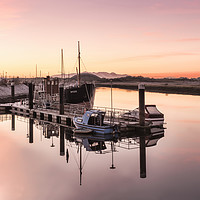 Buy canvas prints of Sunset at the Harbour by Valerie Paterson