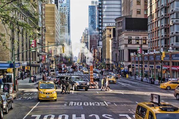 New York City Street Framed Print by Valerie Paterson