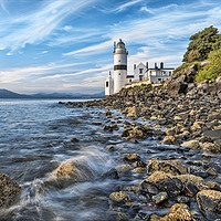 Buy canvas prints of Cloch Lighthouse Gourock by Valerie Paterson