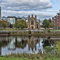 Buy canvas prints of Reflection over the Clyde by Valerie Paterson
