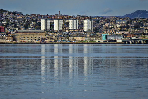 Dundee over the Tay Canvas print by Valerie Paterson
