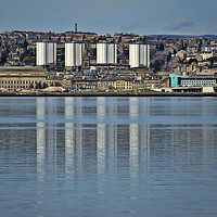 Buy canvas prints of Dundee over the Tay by Valerie Paterson