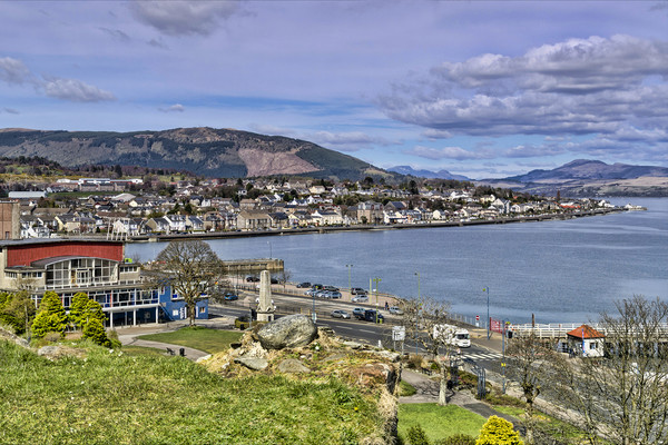Dunoon Canvas print by Valerie Paterson