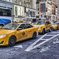 Buy canvas prints of New York City Taxis  by Valerie Paterson