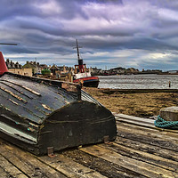 Buy canvas prints of Boats at Irvine Harbour by Valerie Paterson