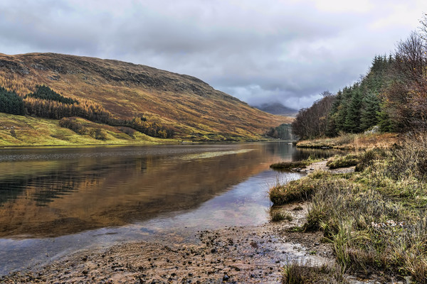 Loch Lubhair Reflection  Canvas print by Valerie Paterson
