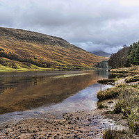Buy canvas prints of Loch Lubhair Reflection  by Valerie Paterson