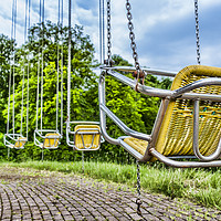 Buy canvas prints of Swing Carousel by Valerie Paterson